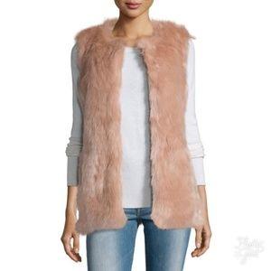 Neiman Marcus Cusp faux fur vest